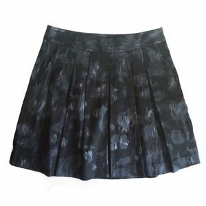 Theory Abstract Print Pleated Mini Skirt Sz 4